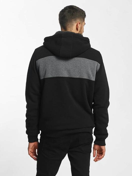 Brave Soul Zip Hoodie Through black
