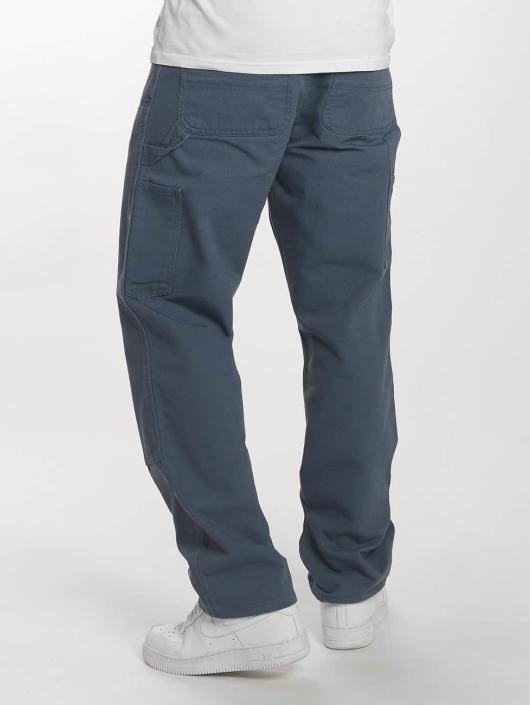Carhartt WIP Cargo Nohavice Dearborn Double Knee modrá