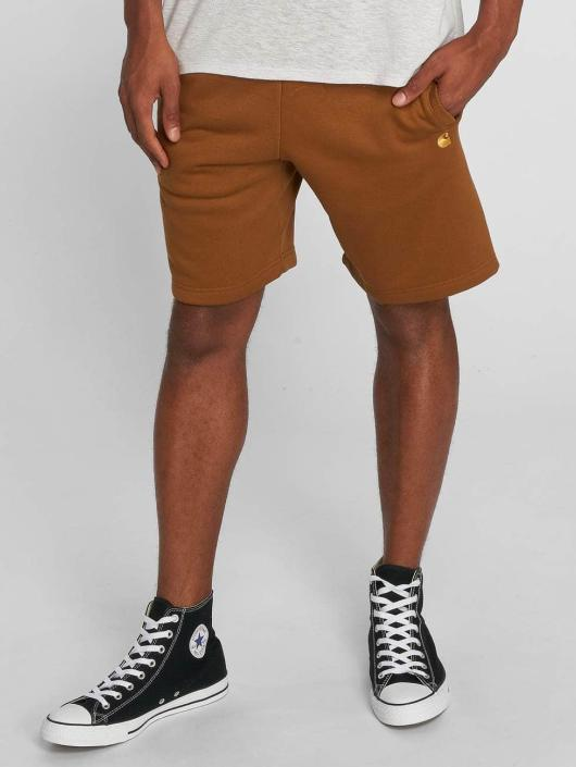 Carhartt WIP Short Chase Cotton/Polyester Heavy Sweat brown