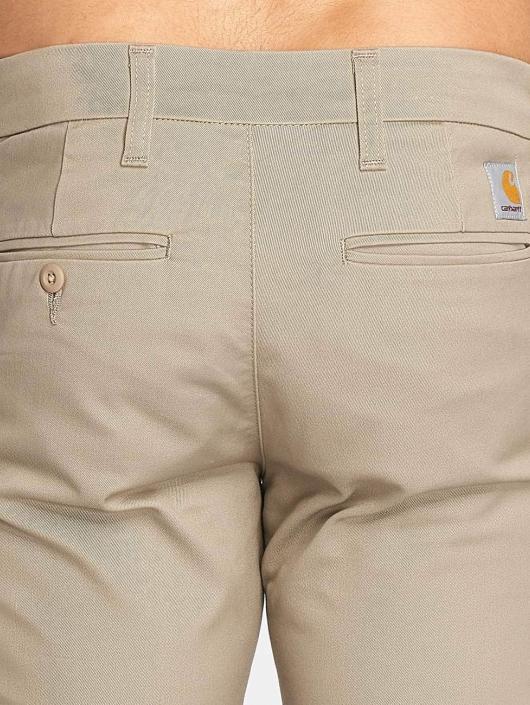 Carhartt WIP Spodnie wizytowe Lamar Slim Fit Sid Chino bezowy