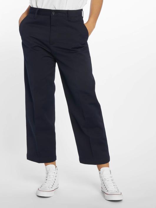 Carhartt WIP Spodnie wizytowe Denison Packard Highwater  Relaxed niebieski