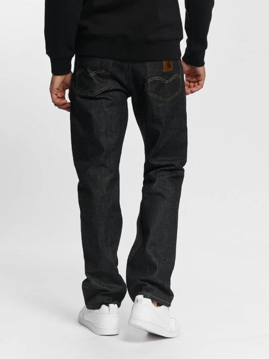 Carhartt WIP Straight Fit Jeans Edgewood blå