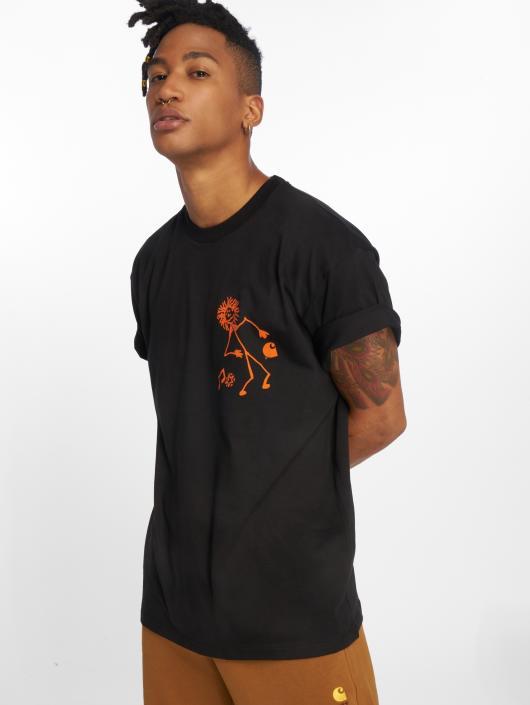 Carhartt WIP T-Shirt Trojan King Of Sound schwarz