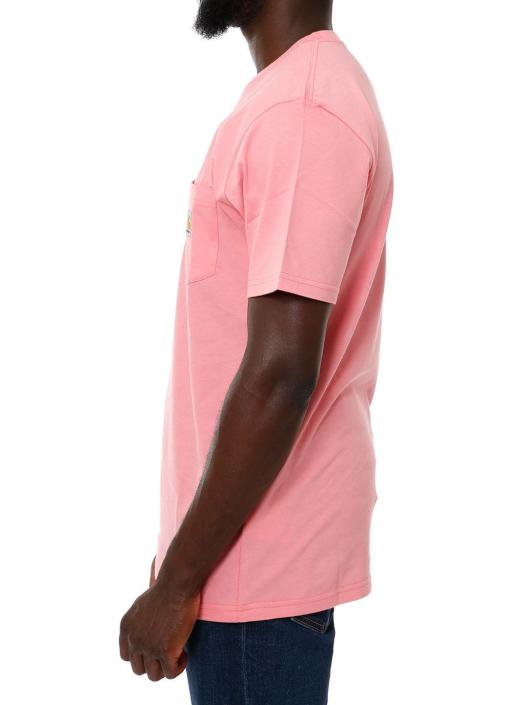 Carhartt WIP T-Shirty SS Pocket czerwony