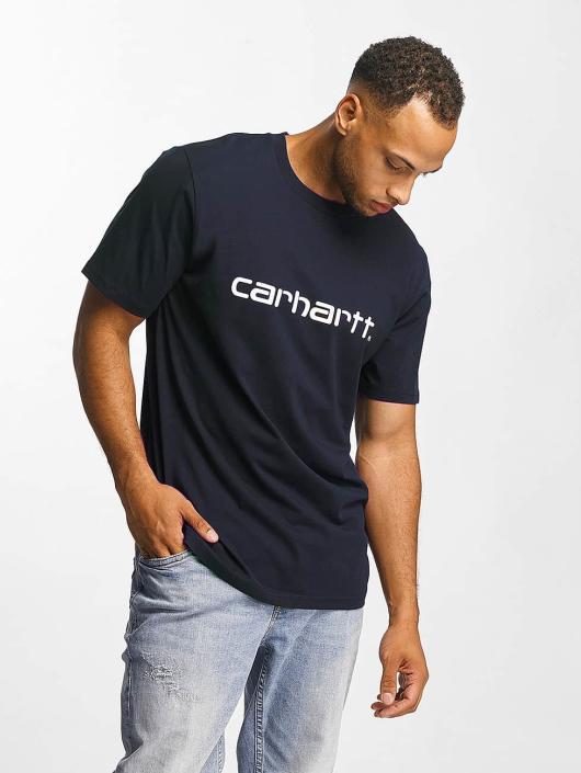 Carhartt WIP Tričká Script modrá