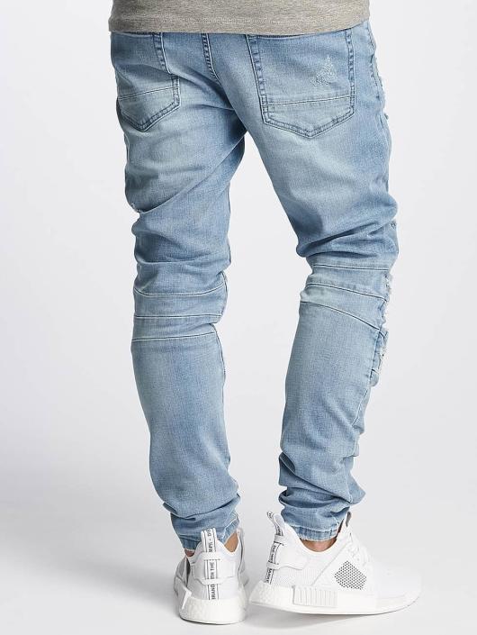 Cayler & Sons Slim Fit Jeans ALLDD Paneled Inverted Biker blau