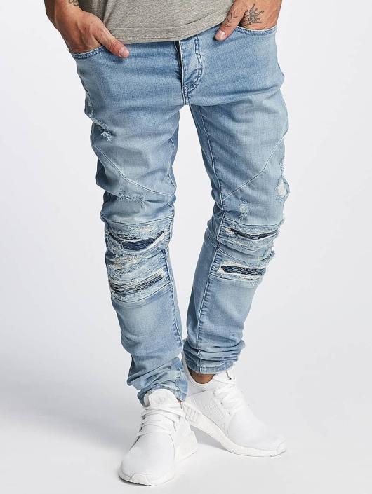 Cayler & Sons Slim Fit Jeans ALLDD Paneled Inverted Biker blue