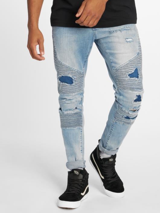 Cayler & Sons Straight Fit Jeans Alldd Broken Biker Ian blau