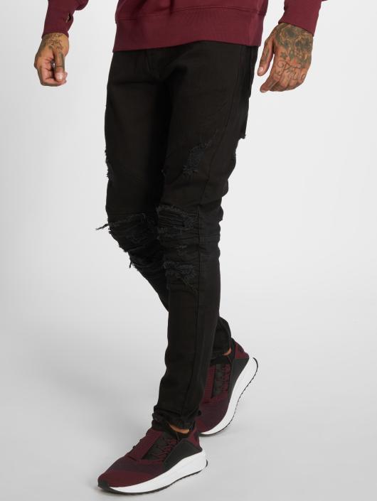 Cayler & Sons Straight Fit Jeans Alldd Paneled Inverted Biker Ian svart
