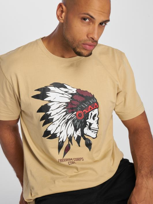 Cayler & Sons T-Shirt Csbl Tee Freedom Corps beige