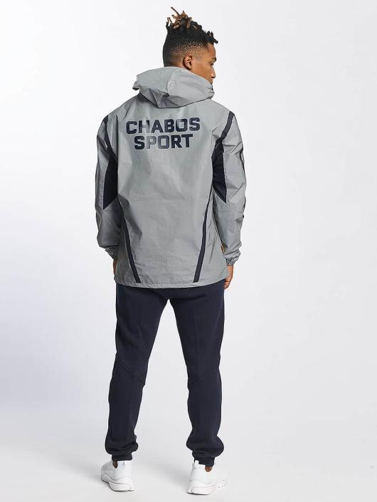 CHABOS IIVII Lightweight Jacket Half Zip Hooded grey