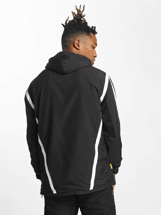 CHABOS IIVII Übergangsjacke Half Zip Hooded schwarz
