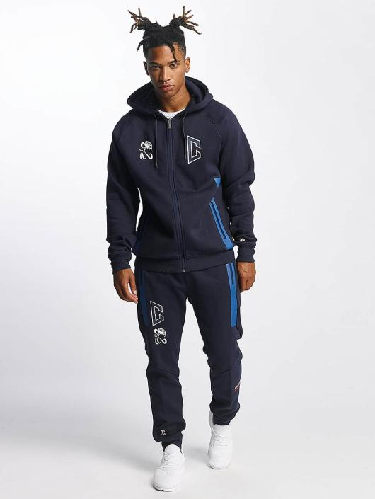 CHABOS IIVII Zip Hoodie Athletic Raglan Zipper blau