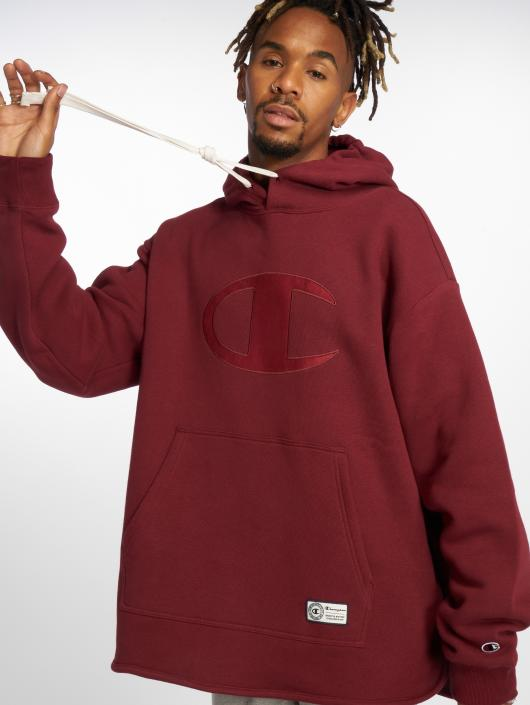 Champion Athletics Hoodie Over Zone red