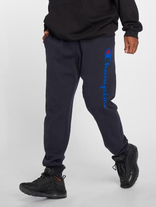 Champion Athletics Jogginghose Logo Rib Cuff blau