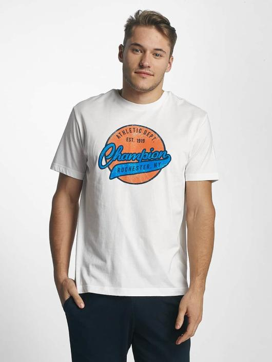 Champion Athletics T-Shirty Logo bialy