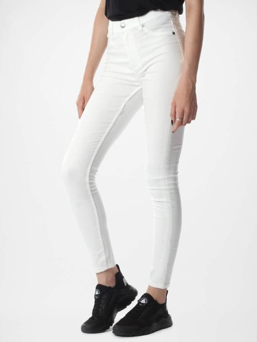 Cheap Monday Skinny Jeans High Spray bialy