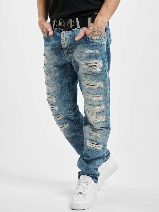 Cipo & Baxx Dżinsy straight fit Destroyed niebieski