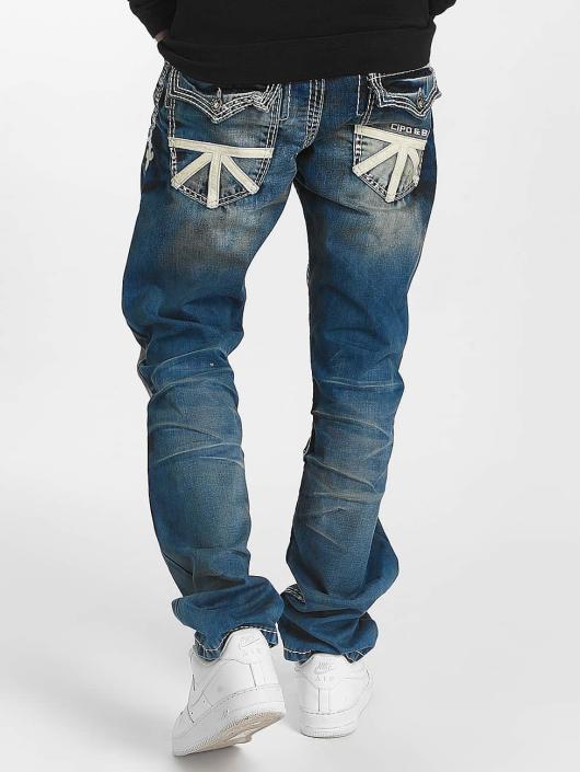 Cipo & Baxx Dżinsy straight fit Ekki niebieski