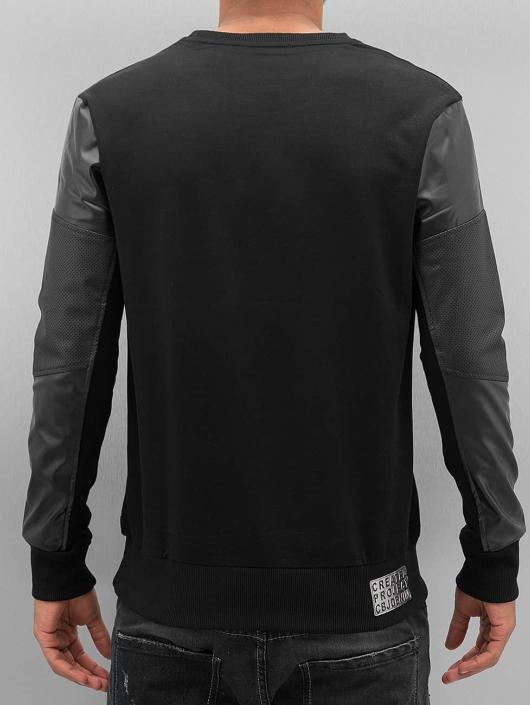Cipo & Baxx Pulóvre Fake Leather èierna