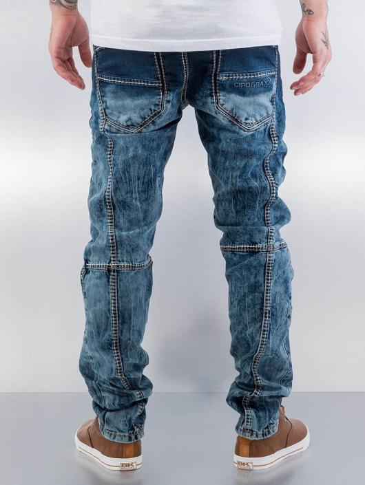 Cipo & Baxx Straight Fit Jeans Topstitching blue