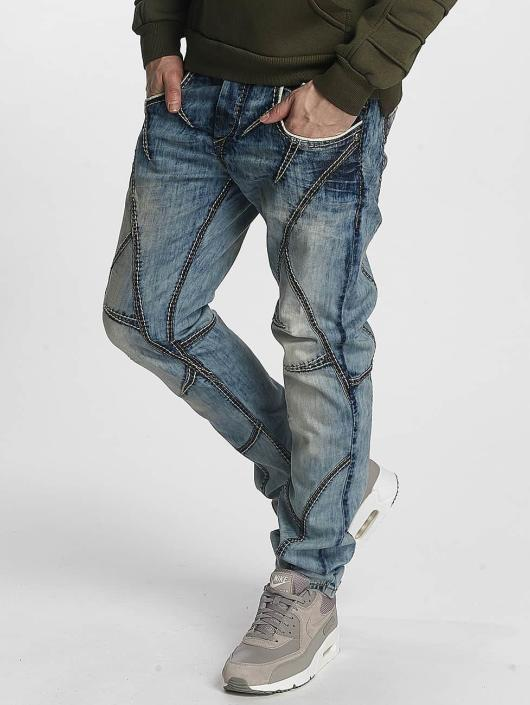 Cipo & Baxx Straight Fit Jeans Seam modrý