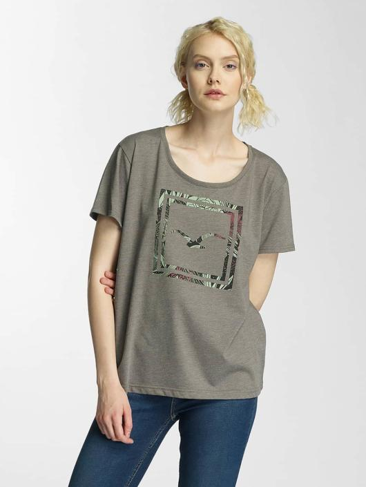 Cleptomanicx T-Shirt Floral Box olive