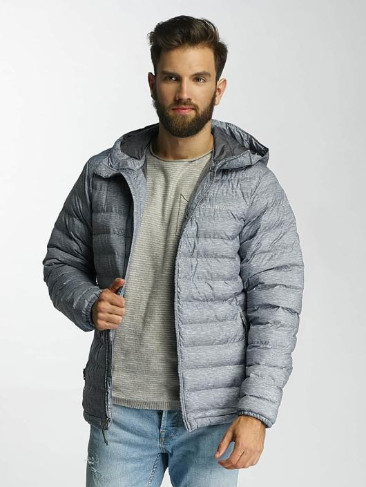 Hombres Chaqueta de invierno Powder Lite Hooded in gris Skilled design Columbia - Hombre Ropa NMQJVSQ