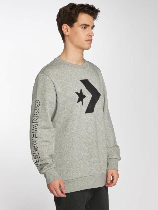 Converse Star Chevron Graphic Sweatshirt Vintage Grey Heather