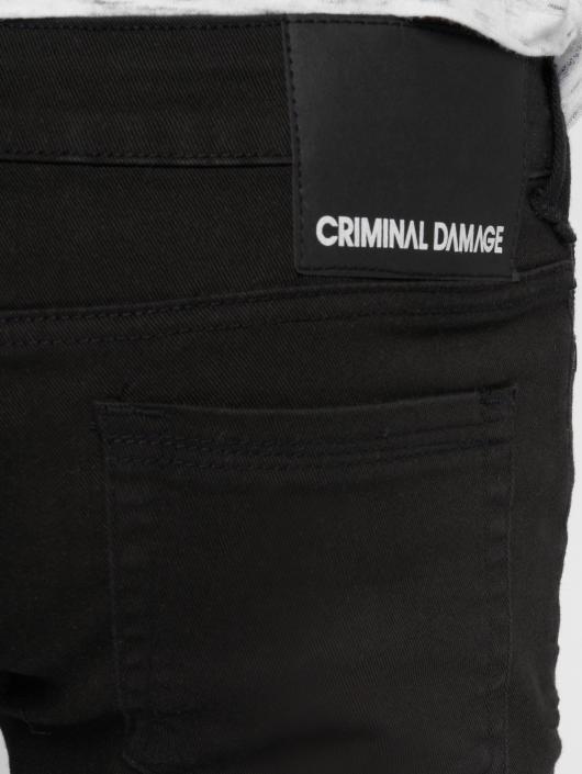 Criminal Damage Skinny Jeans Camden black