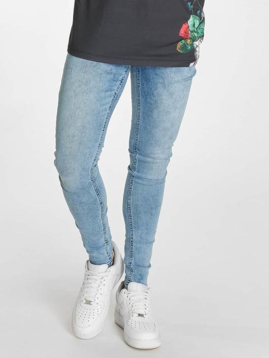 9d860f1f55972 Criminal Damage Notting Spray Skinny Jeans Ice Blue