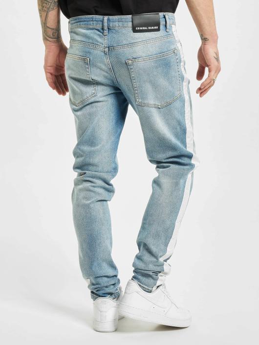 Criminal Damage Skinny Jeans Tape blau
