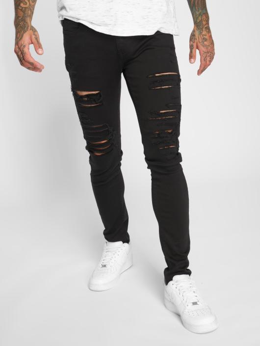 Criminal Damage Skinny Jeans Camden czarny