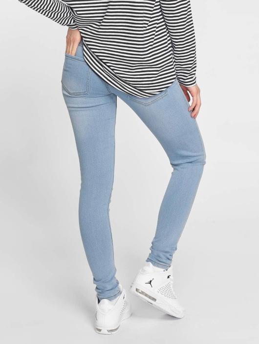 Criminal Damage Skinny Jeans Bella modrý