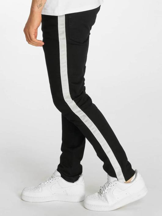 Criminal Damage Skinny Jeans Tape schwarz
