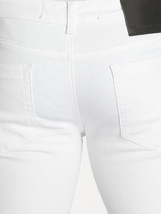 Criminal Damage Skinny Jeans Camden white