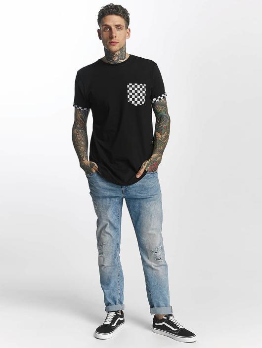 Criminal Damage T-Shirt Chequer Pocket schwarz