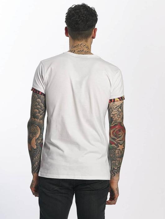 Criminal Damage T-Shirty Flame Pocket bialy