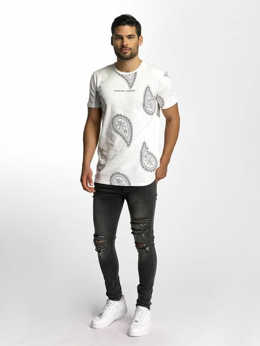 Criminal Damage T-skjorter Rivoli hvit