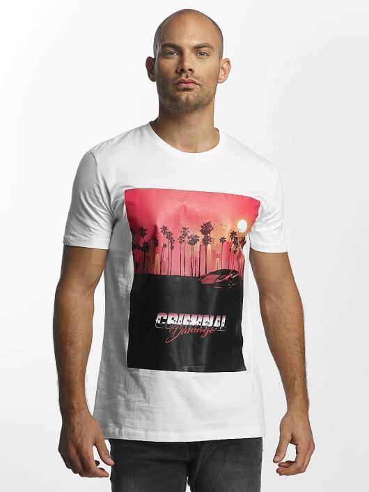 Criminal Damage T-skjorter Miami hvit