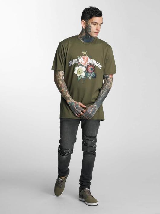 Criminal Damage T-skjorter Gabriel oliven