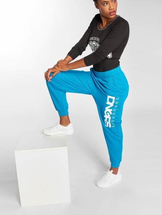 Dangerous DNGRS Jogginghose Soft Dream Leila Ladys Logo türkis