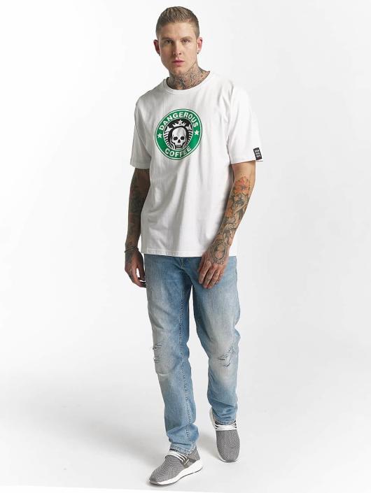 Dangerous DNGRS T-Shirt Coffee weiß