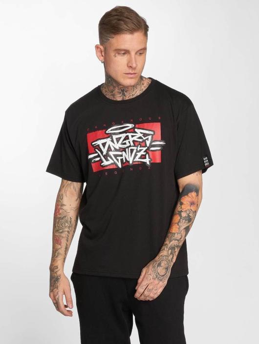 Dangerous DNGRS T-Shirty LGNDZ czarny
