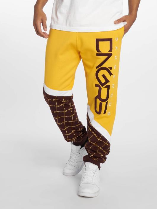 Dangerous DNGRS tepláky Woody žltá