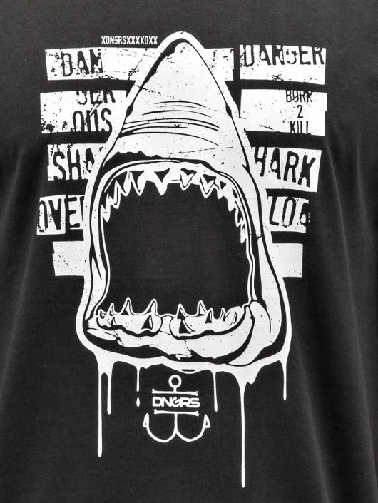 Dangerous DNGRS Tričká Shark èierna