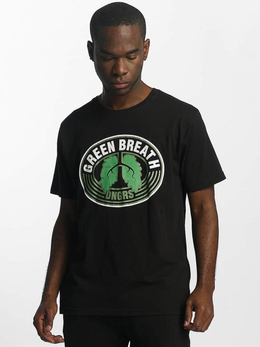 Dangerous DNGRS Tričká Green Breath èierna