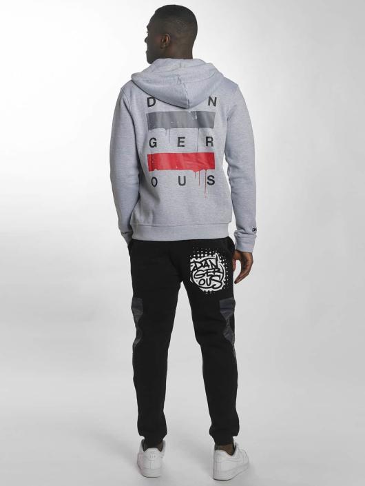 Dangerous DNGRS Zip Hoodie Uncaged gray