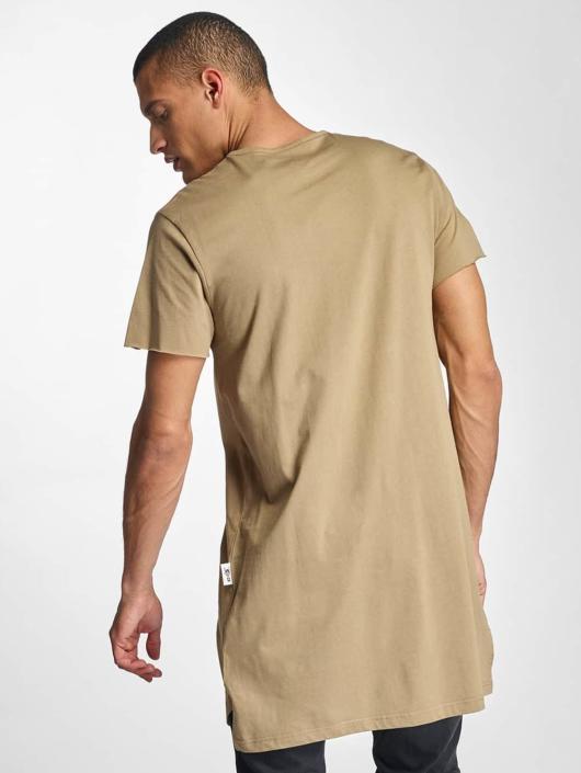 De Ferro Long Oversize T Shirt Beige