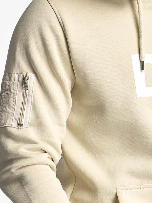 DEF Bluzy z kapturem Logo bezowy